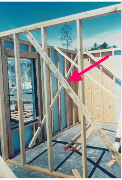 1x4 let in corner bracing