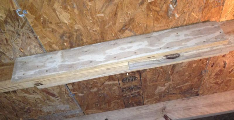 splicing a rafter with plywood