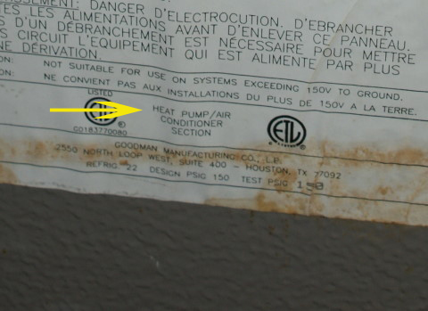air handler label