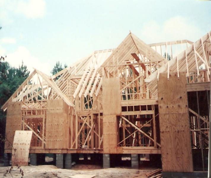 old house framing in charleston circa 1990