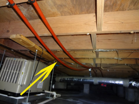 Charleston home inspector discusses plumbing pipe supports for Pex water line problems