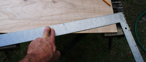 draw line for the shed roof angle