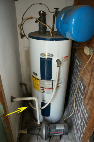 Charleston Home Inspector Inspects Water Heater