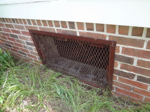ventilated crawlspace access cover